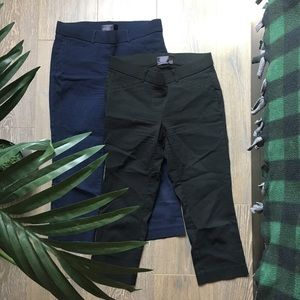 Bundle Two Work Pants Cropped Skinny Ankle